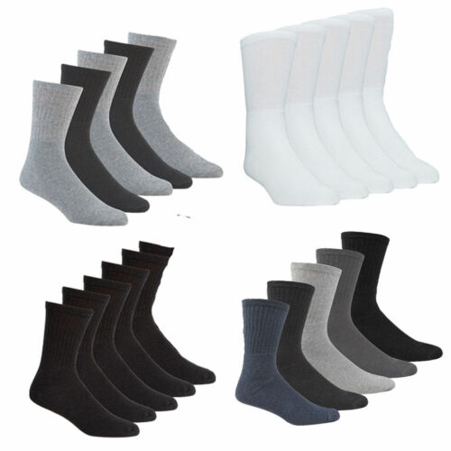 Pack of 5//10 Mens Sports Socks Boys Cotton Rich Socks Ideal Daily Gym Running