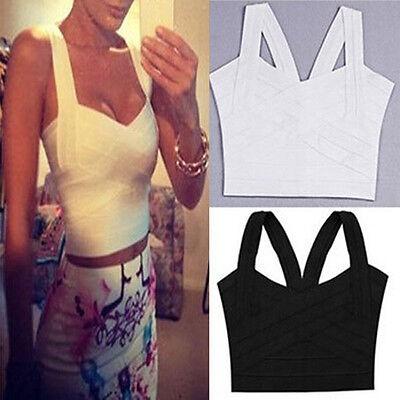 Sexy Women V-Neck Crop Bustier Corset Tops Blouse Party Clubwear Bandage Tank