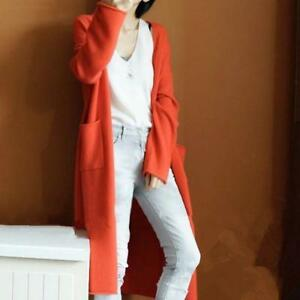 Chic-With-Pockets-Loose-Coat-All-US-Sz-Women-039-s-Cashmere-Cardigan-Long-Sweater-L
