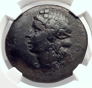Details About Greek Island Rhodes Off Caria Authentic Ancient Coin Dionysus Nike Ngc I72728