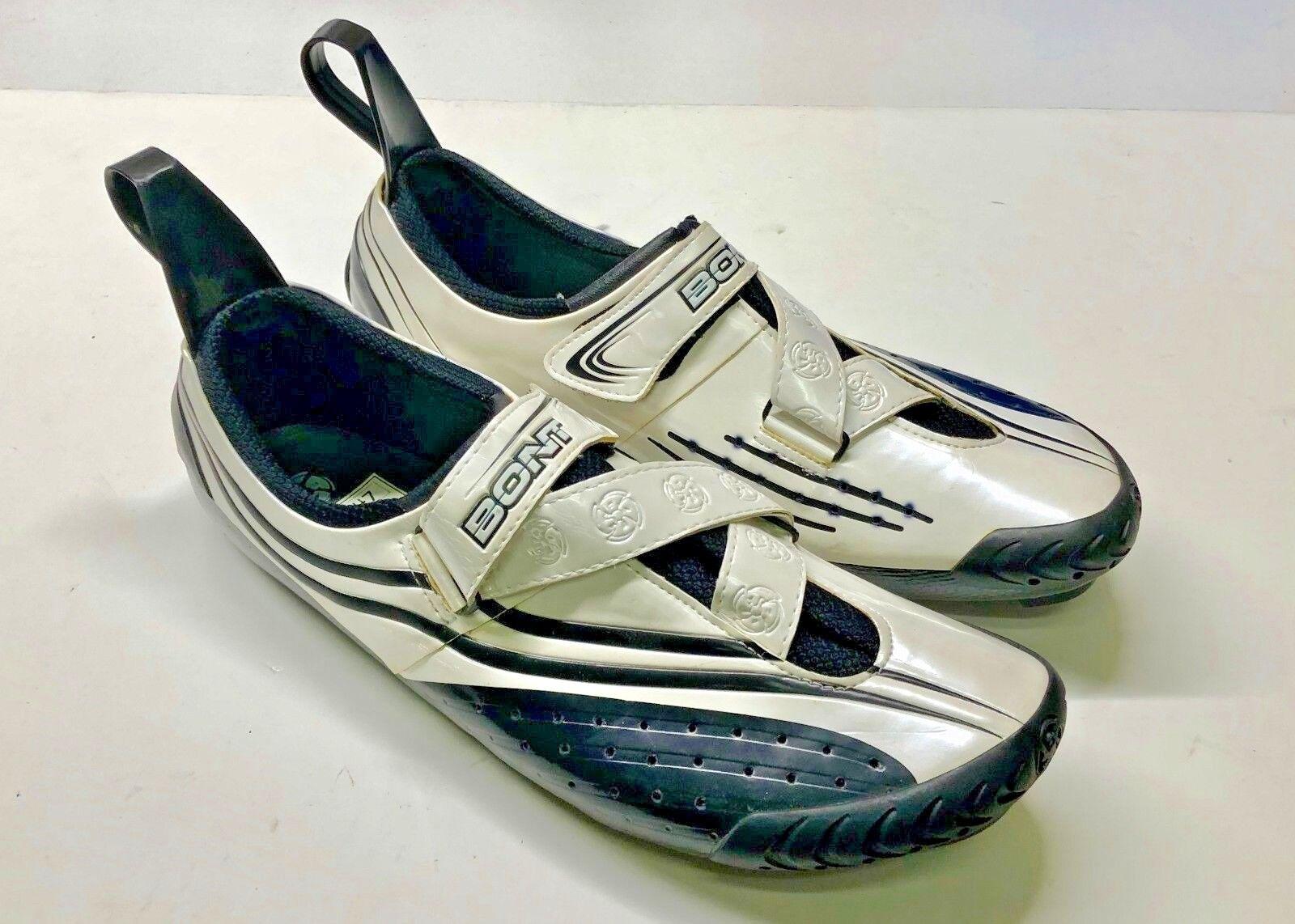 Bont Sub 9 carbon triathlon cycling scarpe, bianca. EUR 40 or U.S. 6.5