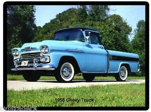 1958 Chevy Truck Refrigerator Tool Box Magnet Ebay