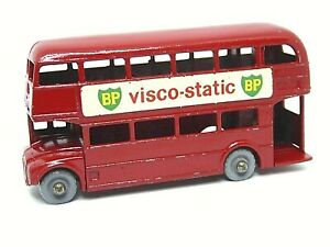 Matchbox-Lesney-No-5c-AEC-London-Routemaster-Bus-Gris-ruedas-de-plastico