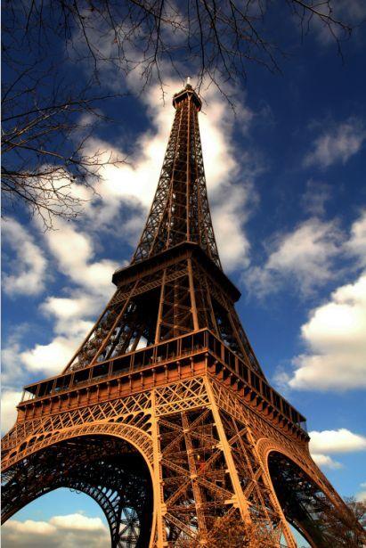 3D Bel Eiffel Tower Photo Papier Peint en Autocollant Murale Plafond Chambre Art