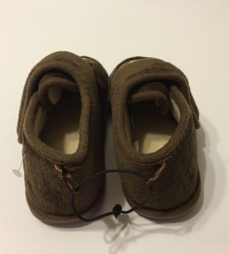 Baby Toddler Boys Slipper Shoes M L XL Brown