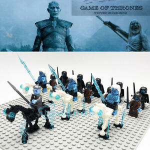 18PCS-Game-of-Thrones-Night-039-s-King-White-Walker-Zombies-Army-Building-Block-Toys