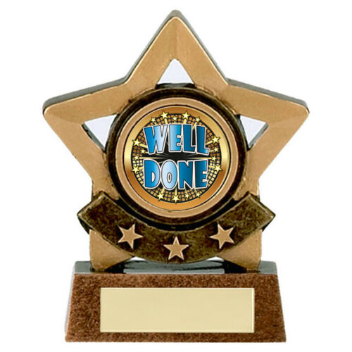 Victory Well Done  Mini Stars Prize Award Trophy FREE ENGRAVING