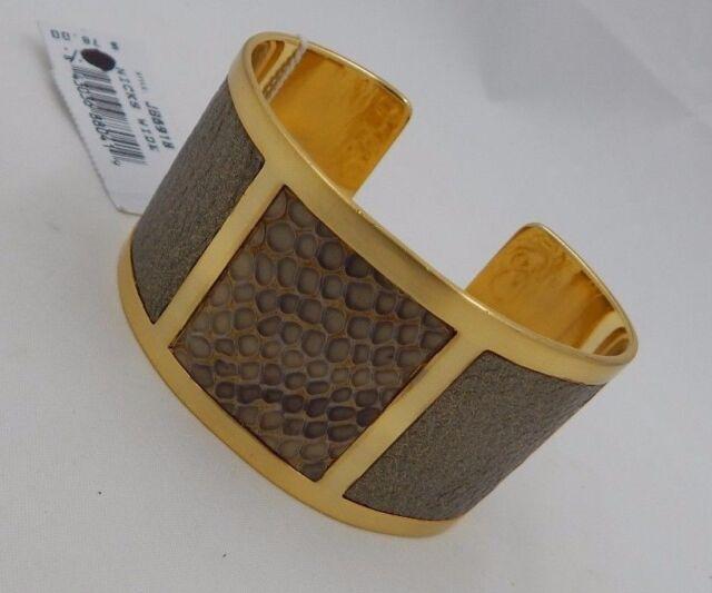 Brighton Nicks Wide Gold Cuff Bangle Bracelet Jb6918 Nwt