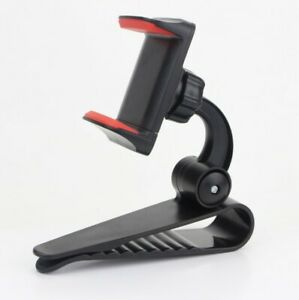 Supporto-pinza-Visiera-parasole-per-AUTO-base-Porta-cellulare-per-Smartphone-GPS
