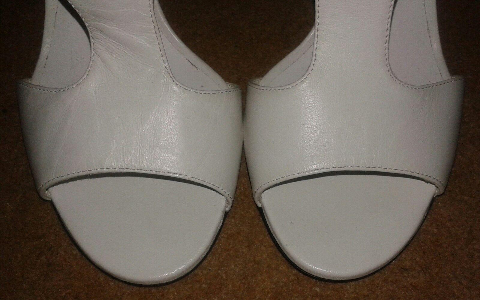 Tamara Mellon Laser Cut Out Back Zip Leather Sandals Cream Cream Cream -UK 6  EU 38  9f687f