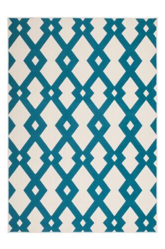 Tapis Moderne FLACHFLOR pavés Motif Tapis effet 3d ivoire turquoise
