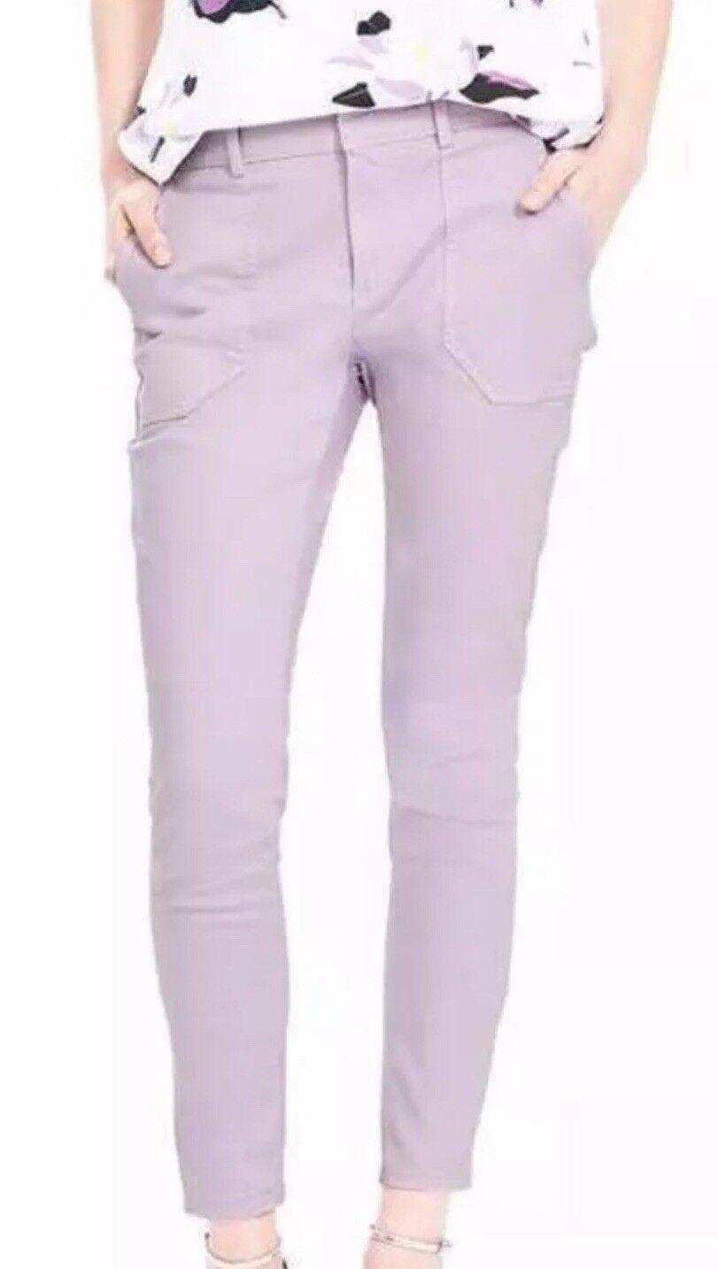 NWT Banana Republic Women Sloan-Fit Utility Ankle Pant purple Size 6