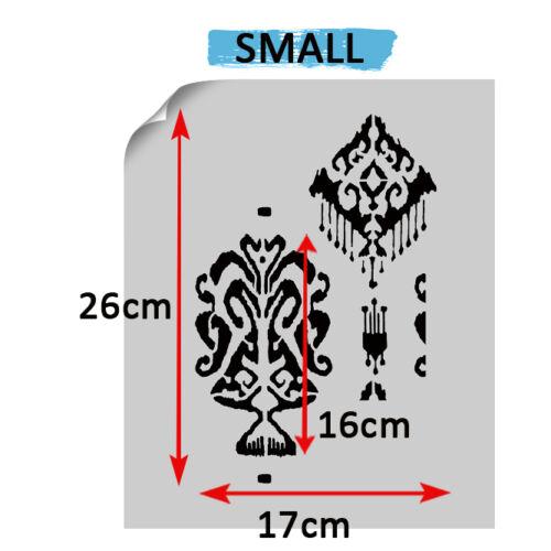 Patrón de plantilla Kupang Ikat marroquí Paredes De Pintura Decorativa Tela Reutilizable