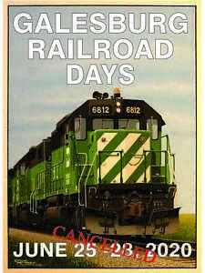 2020 GALESBURG RAILROAD DAYS POSTER