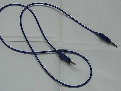 Lot x2 câble cordon bleu avec fiches bananes 4mm Radiall 1m50 1.5m 150cm