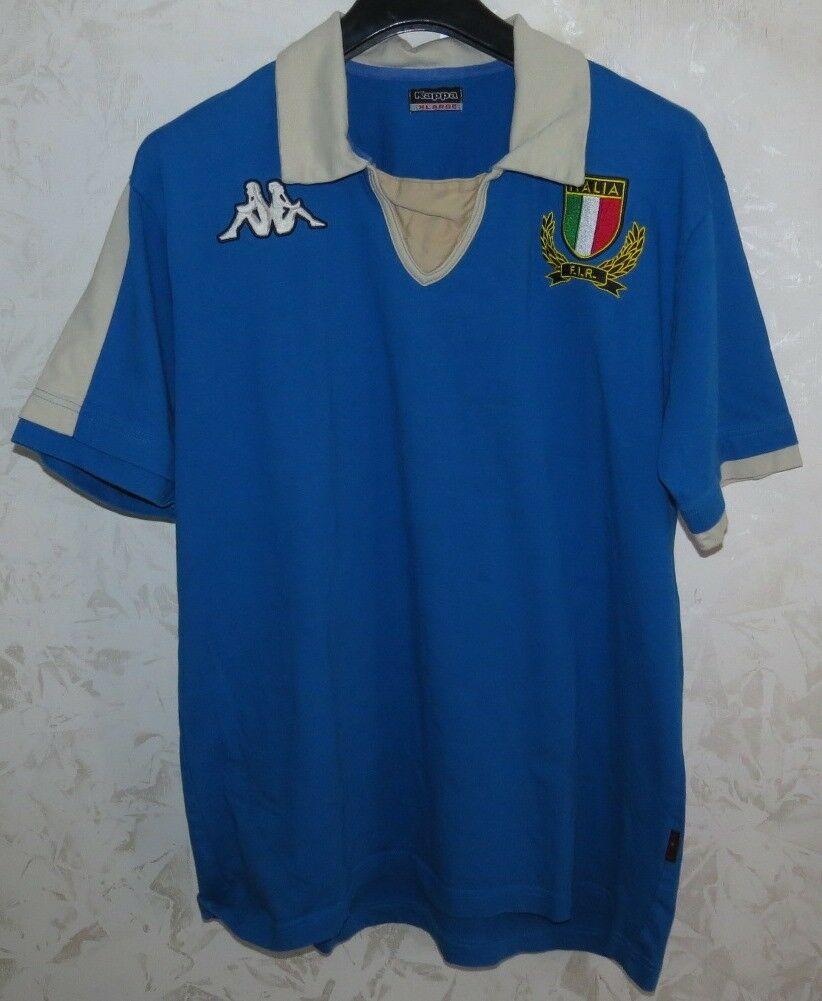 MAGLIA SHIRT JERSEY MAILLOT TRIKOT CAMISA FIR RUGBY ITALIA ITALY ITALIE CUP XL