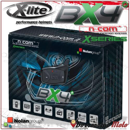 INTERFONO BX4 PLUS BLUETOOTH SINGOLO N-COM XSERIES CASCO X-LITE X-701 X701