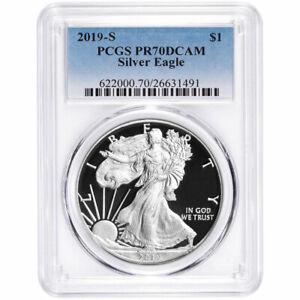 2019-S-Proof-1-American-Silver-Eagle-PCGS-PR70DCAM-Blue-Label