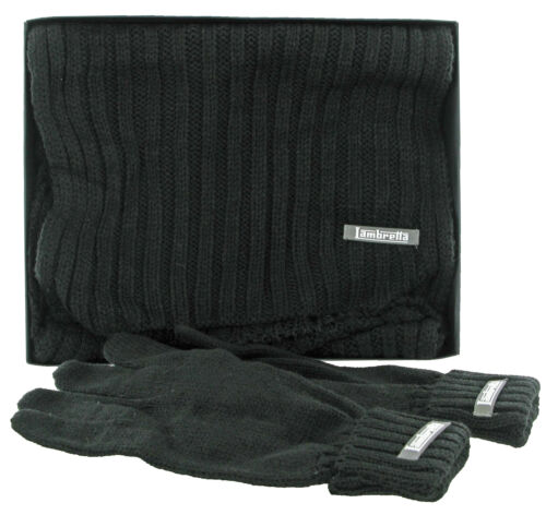 Lambretta Hat Scarf and Gloves Box Set 3 Piece 100/% Acrylic One Size