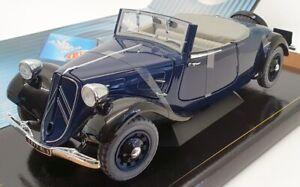 Solido-Escala-8178-1-18-1938-CITROEN-TRACCIoN-Av-11-Cabrio-Azul-Oscuro