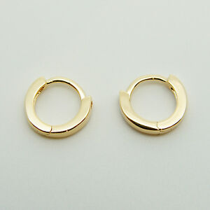 18k-yellow-Gold-plated-huggie-hoop-10mm-sleeper-earrings-Non-allergenic-AUS-MADE