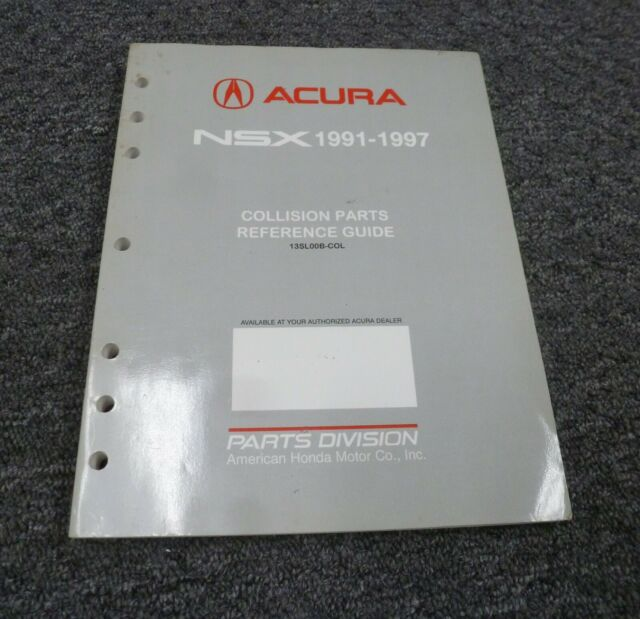 1993-1994 Acura NSX Coupe Collision Parts Reference Guide