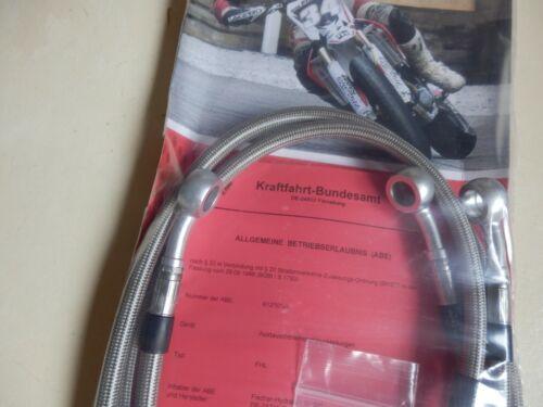 XS 400 2A2 ab 1978 STAHLFLEX vorne /_ hinten  mit ABE NEUWARE XS400 brake hose