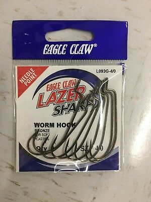 Eagle Claw Lazer Sharp Live Bait Saltwater 2//0 Hooks 4 Packs