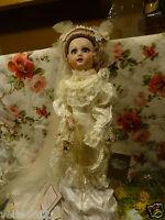 Reproduction .porcelaine Magnifique Poupée Jumeau Somptueuse Robe De Mariée