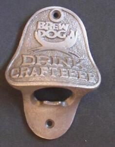 CAST IRON WALL MOUNTED BOTTLE OPENER BREW DOG DRINK CRAFT BEER GARDEN MANCAVE