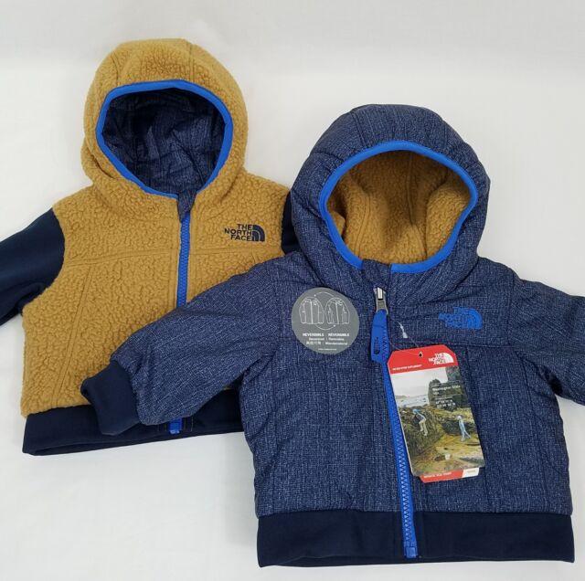 711cb981b5 The North Face Yukon Hoodie Coat 0-3 M Infant Boy Reversible Jacket Blue  Brown