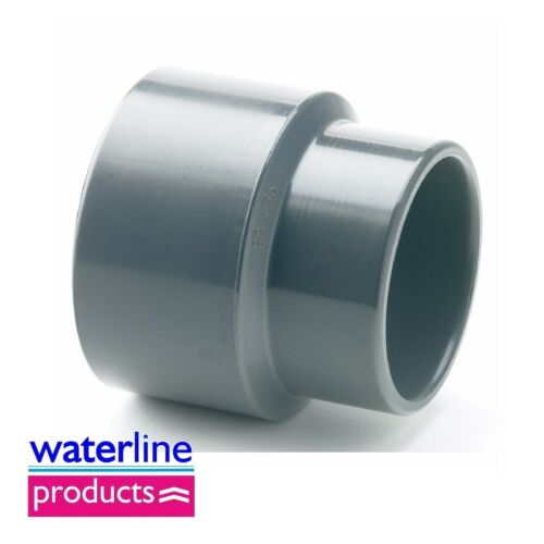 Reducing Socket Plain Solvent Cement Grey uPVC Pipe Fitting Imperial
