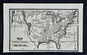 1830 Nathan Hale Map United States 24 States West