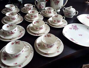 top-Kaffeeservice-amp-2-Platten-10-Personen-Thomas-Porzellan-Avory-1938-Rose-Top