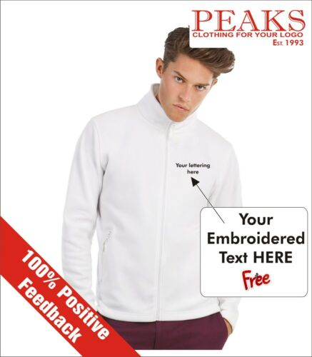 XS to 4XL FREE lettering added! Mens Fleece Jacket 10 Colours Christmas Gift