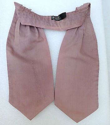 Vintage 1970s Duggie cravat British mens fashion Faded and Old Dusky pink