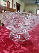 CAMBRIDGE ROSE POINT RAMS HEAD FOOTED FRUIT BOWL, Rare and beautiful 9 inch bowl