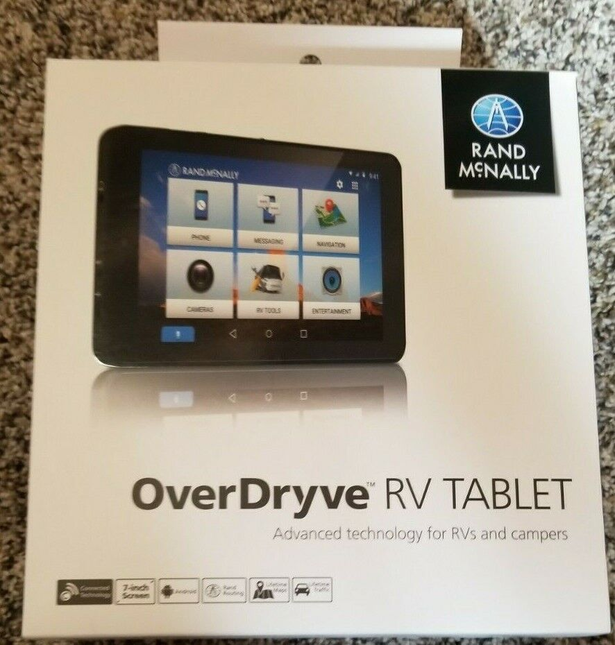 Rand Mcnally Overdryve 7 Rv Gps Tablet With Built In Dash Cam And Lifet For Sale Online Ebay