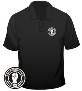 Northern-Soul-Badge-Keep-The-Faith-Polo-Mens-Loose-Fit-Cotton-T-Shirt