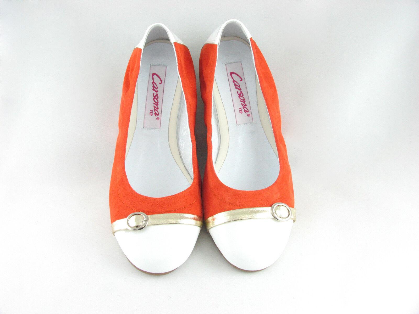 the best attitude f3234 da7b5 Edelste Ballerinas Leder Soft Flats Damen Slipper Orange ...
