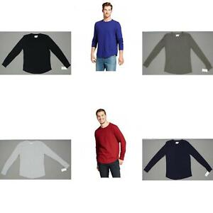 GOODFELLOW-homme-a-manches-longues-en-coton-maille-gaufree-Thermal-Shirt
