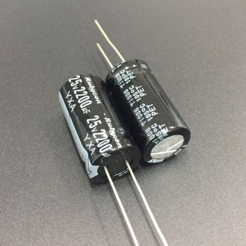 100pcs 2200uF 25V Rubycon YXA  25V2200uF Aluminum Electrolytic Capacitor 12.5x25