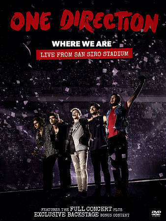 One Direction Where We Are Live From San Siro Stadium DVD, 2014  - $4.00