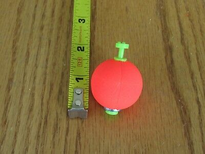 """12  1.75/"""" FISHING BOBBERS Round Weighted Floats Flo Chart  Foam SNAP ON FLOAT"""