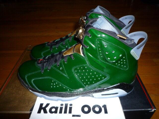 Nike Air Jordan 6 Retro Size 11 CHAMPAGNE 384664-350 DB GREEN Infrared DB A
