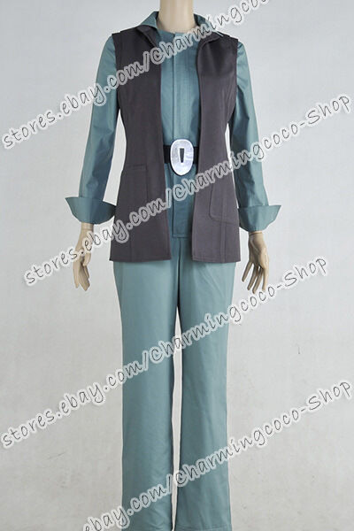 Star Wars: The Force Awakens Cosplay Princess Leia Costume Outfit Uniform Female