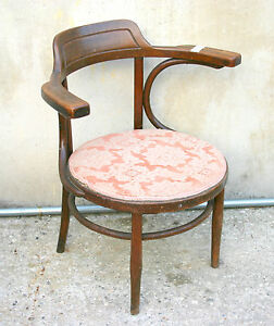 Sedie In Stile Thonet.Dettagli Su Eccezionale Sedia Poltrona Austriaca Con Braccioli Stile Thonet Primo 900