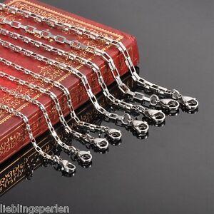 L-P-Damen-Herren-Kette-Edelstahl-Venezianerkette-Boxkette-Silberkette-M10692