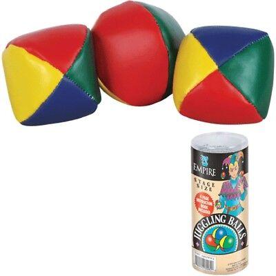 PROFESSIONAL JUGGLING BALL SET W 3 BALLS magician clown practice jesters tricks