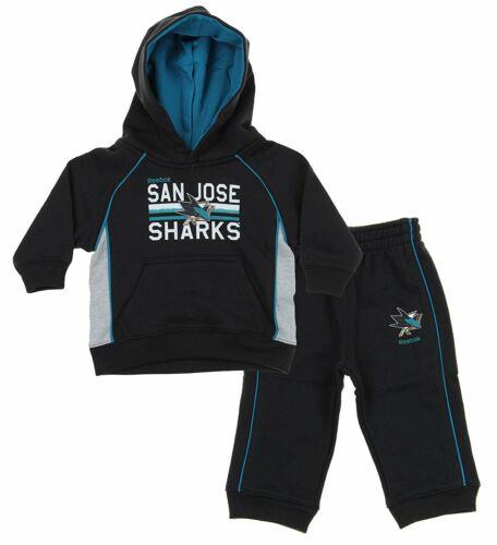 NHL Todders Infants San Jose Sharks Classic Fan 2 Piece Hoodie /& Pant Set